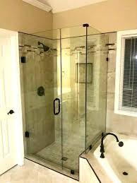 shower door seal seamless 3 piece enclosure in wall mounted a home depot frameless doors glass