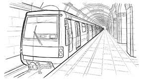 subway train drawing. Delighful Train Hand Drawn Sketch Saint Petersburg Subway Station Stock Vector   Illustration Of City Perspective 101634836 On Train Drawing
