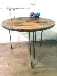 industrial round dining table al round dining table reclaimed wood vintage work rustic farmhouse and chairs industrial dining table lamp