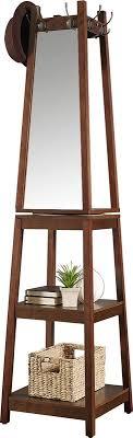 Coat Rack With Mirror And Shelf Roundhill Furniture Vassen Swivel Coat Rack with 100Tier Storage and 76