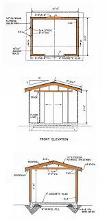 8x10 gable storage shed plans