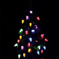 35 Light Strand Christmas Lights Hayata C7 Bulbs Christmas Lights 35 Led 29 5ft Strawberry