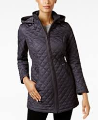 Quilted Womens Coats - Macy's & Laundry by Shelli Segal Faux-Fur-Lined Quilted Coat Adamdwight.com