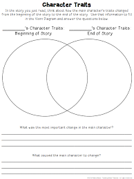 Venn Diagram Character Comparison Character Traits Graphic Organizers Teaching Made Practical