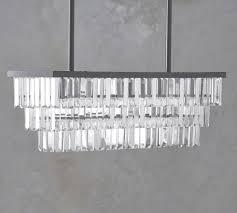 gemma crystal rectangle chandelier pottery barn with crystal rectangular chandelier view 18 of 45