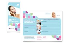 Spa Brochure Template Interesting Medical Spa Brochure Template Word Publisher