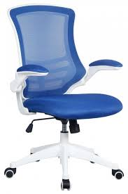 white frame office chair. Luna Blue Mesh Office Chair With White Frame S