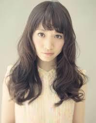 髪型パーマミディアム黒髪 Kamigata