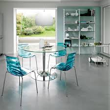 ... Stunning Calligaris Glass Dining Table : Outstanding Calligaris Planet  Glass Top Round Dining Table With Round ...