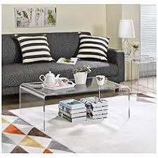 acrylic coffee table. sundeen rectangular molded acrylic coffee table e