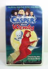 casper and wendy. casper meets wendy the ghost, witch vhs 1998 hilary duff movie video clamshell casper and wendy