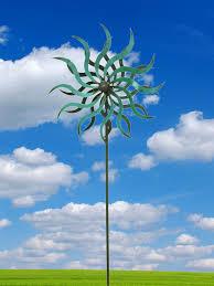 east2eden large green spiral metal garden wind spinner windmill ornament flower co uk garden outdoors
