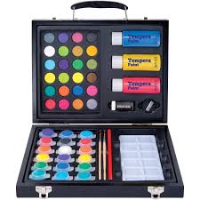 art 101 52 piece deluxe art and washable paint set in wood case com