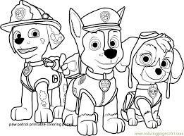 Paw Patrol Coloring Pages Colouring Printable