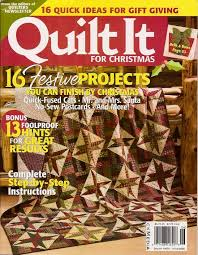 Magazine Articles & quilt it for christmas magazine cover Adamdwight.com