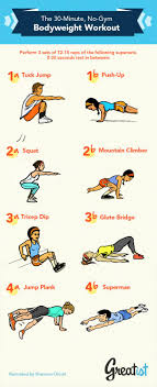 infographic a 30 minute bodyweight workout