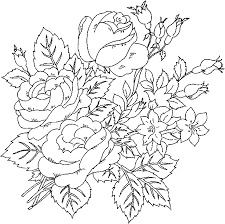 flower coloring sheets