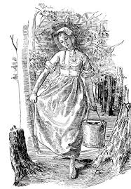 pioneer woman clothing drawing. women in the 1830s wore full or ankle length one-piece dresses of pioneer woman clothing drawing