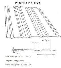 2 mesa deluxe rv siding pattern