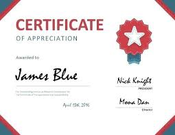 Certificate Of Appreciation Free Download Certificate Of Appreciation Templates Free Download Sample Of