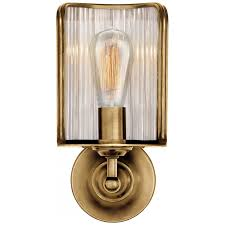Light Bulb Shield Rivington Shield Sconce In Natural Brass With Ri Cpktr