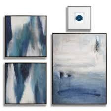 on framed blue wall art set with sapphire art set series