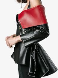 alexander mcqueen stud embellished off the shoulder leather jacket farfetch