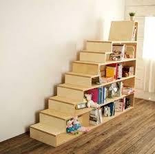 Bookshelf + Seat #stair #bookcase #seating