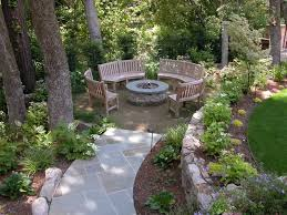 stone path to a firepit