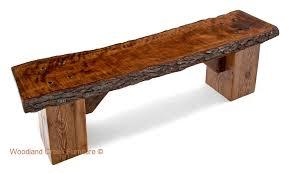 natural wood bench. Beautiful Wood Slab Bench With Natural Wood N