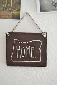 oregon home rustic wood sign home decor hand by littleflockdesigns