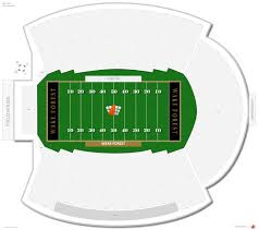 Wake Forest Stadium Seating Chart Bb T Field Wake Forest Seating Guide Rateyourseats Com