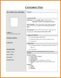7 Basic Resume Format For Fresher Mailroom Clerk