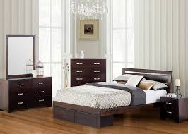Montana 5 Piece King Bedroom Set - Bed with 2 Storage Drawers in Chocolate