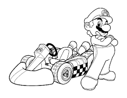 Small Picture mario kart 8 coloring pages super mario with super kart coloring