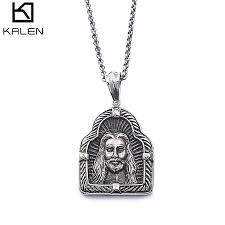 dropping only dunhuang men s anium steel pendant necklace catholic religious jewelry