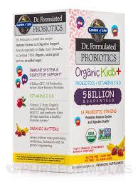 dr formulated probiotics organic kids 5 billion cfu strawberry banana flavor 30 chewables