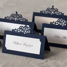 wishmade free shipping personalized navy blue laser cut wedding Laser Cut Wedding Place Cards wishmade free shipping personalized navy blue laser cut wedding place card with rhinestone decoration name card for party event black laser cut wedding place cards