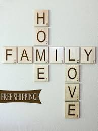 Large Scrabble Tiles Decorative Large Individual Scrabble Letters Crossword Wall Décor Engraved 2