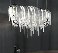 amazing modern chain chandelier modern hotel silver metal chain chandelier regarding new