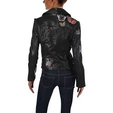 aqua womens erfly winter leather motorcycle jacket 1