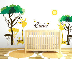 baby  on baby safari nursery wall art with baby room ideas wall decals gutesleben
