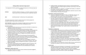 Independent Contractor Agreement Template Independent Contractor Agreement Template Word Independent