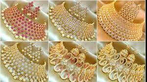 Best Bridal Jewelry Designers Latest Bridal Necklace Sets Designs 2018 Ad Bridal Necklace Sets Deigns Nafees Collection