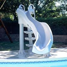 pool slides for your above ground portable pools slide ideas