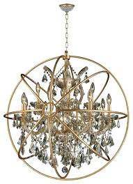 orb chandelier light gold finish with matte cage foucaults restoration hardware foucault crystal traditional ch