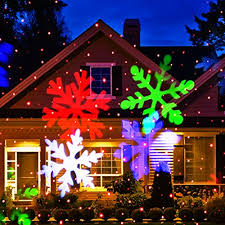 christmas home lighting. 24. Ucharge Snowflake Led Spotlight Landscape Projector Christmas Home Lighting