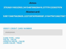 You might be wondering what this online credit card validator is all about. Credit Card Number Generator Validator With Jquery Validmycard Free Jquery Plugins