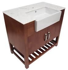 36 vanity with sink. Alfi AB36DO-GO Golden Oak Single Farm Sink Bath Vanity With Doors And Marble Countertop | ExpressDecor.com 36 I