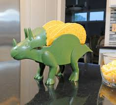 tricerataco a dinosaur that holds your tacos